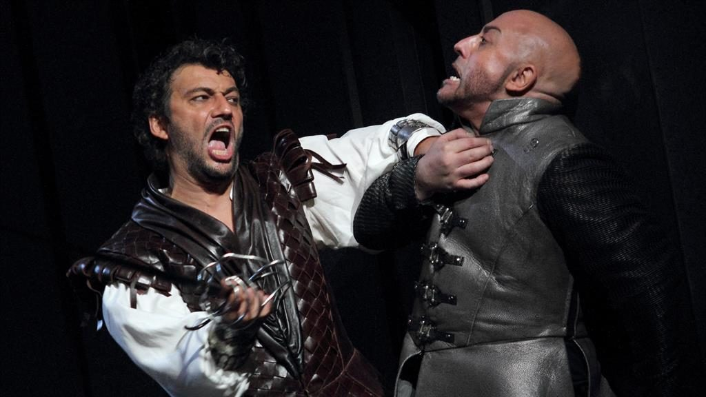 Don't kill the messenger: Iago's news of Desdemona's supposed infidelity hits Otello hard