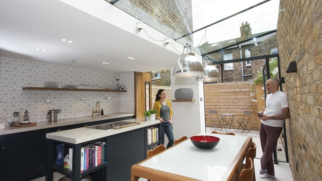 Light-years ahead: Michelle and Edward in their extended kitchen
