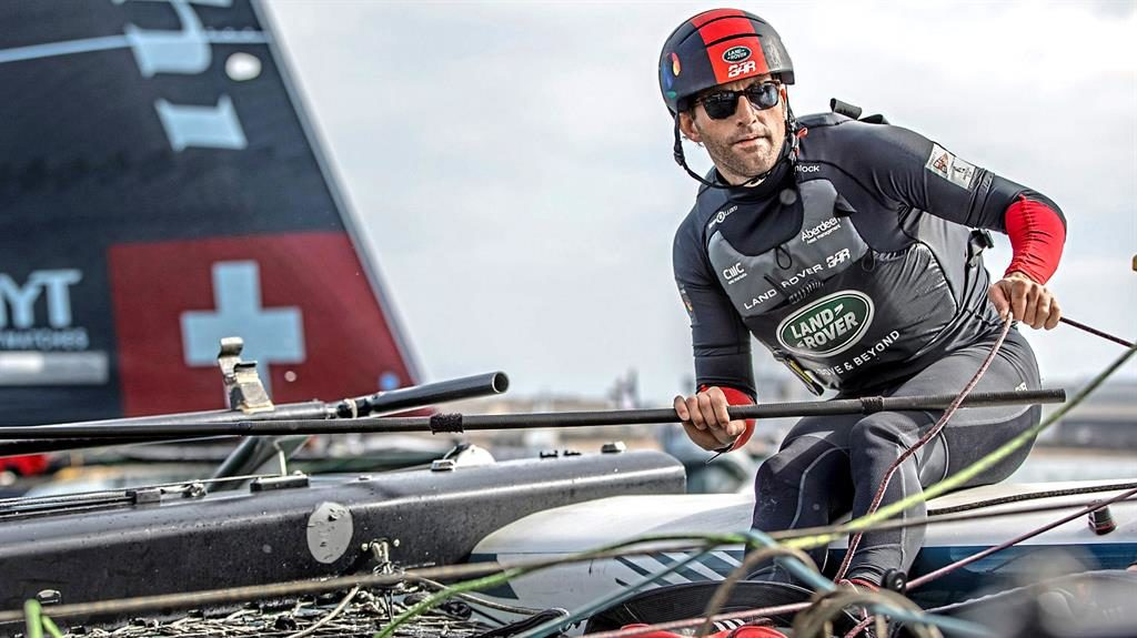 At the helm: Ainslie is looking to steer Land Rover BAR to America's Cup success next time