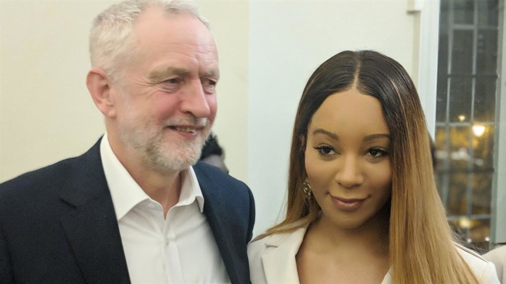 Adviser: Jeremy Corbyn and Ms Bergdorf before she stepped down
