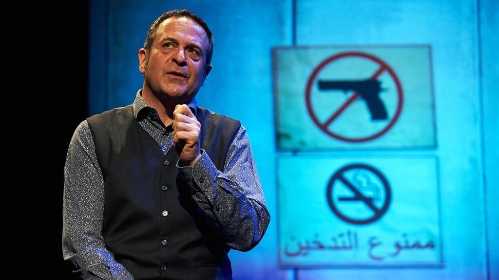 Masterclass: Mark Thomas lampoons Israelis and Palestinians PIC: STEVE ULLATHORNE