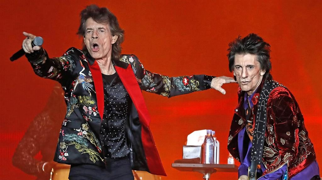 Rolled gold: The Stones are out on the road once more in their 56th year