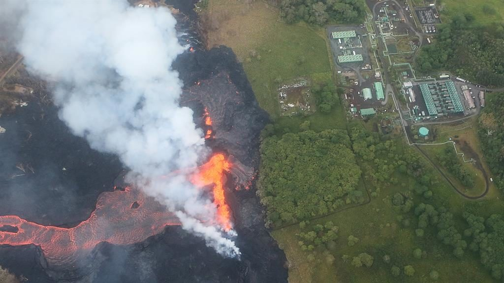 Toxic: Hawaii volcano spews lava next to a geothermal plant PICTURE: GETTY
