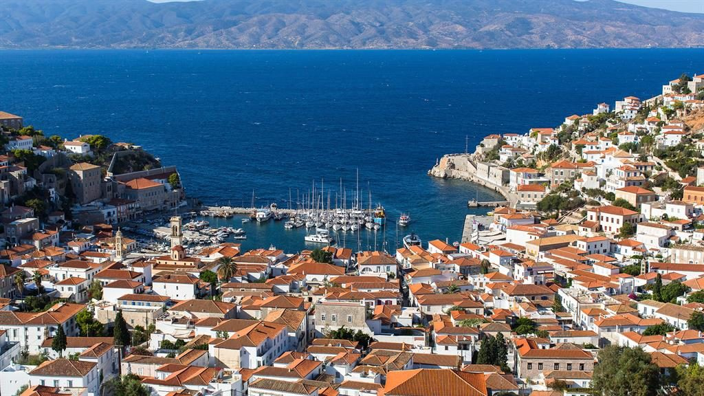 Harbour delights: Hydra has a rich marine and artistic heritage, which has attracted the likes of author Henry Miller, The Rolling Stones and Leonard Cohen PICTURE: ALAMY