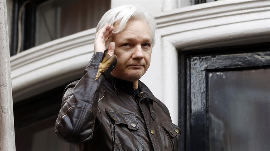 Leaving? Wikileaks founder Julian Assange PIC: AP