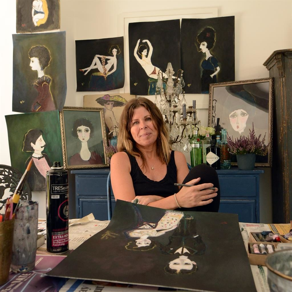 Right at home: Rebecca among some of her creations, which are beloved by celebrities PICTURES: DANIEL LYNCH