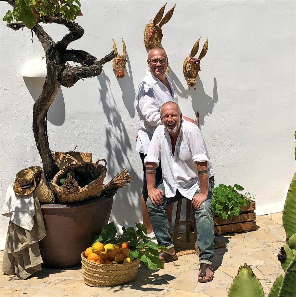 Happy hosts: Andi Lackner, front, and Andreas Oberkanins PHOTOS: LUI GOLEBIEWSKA