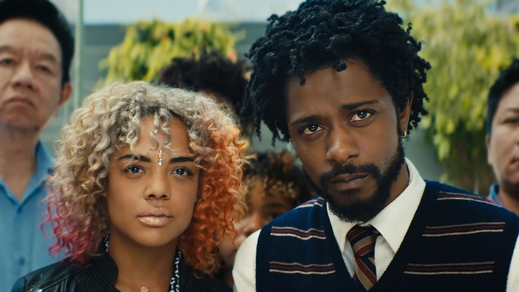 Spike Lee meets Spike Jonze: The brilliant Tessa Thompson.and Lakeith Stanfield in Sorry To Bother You