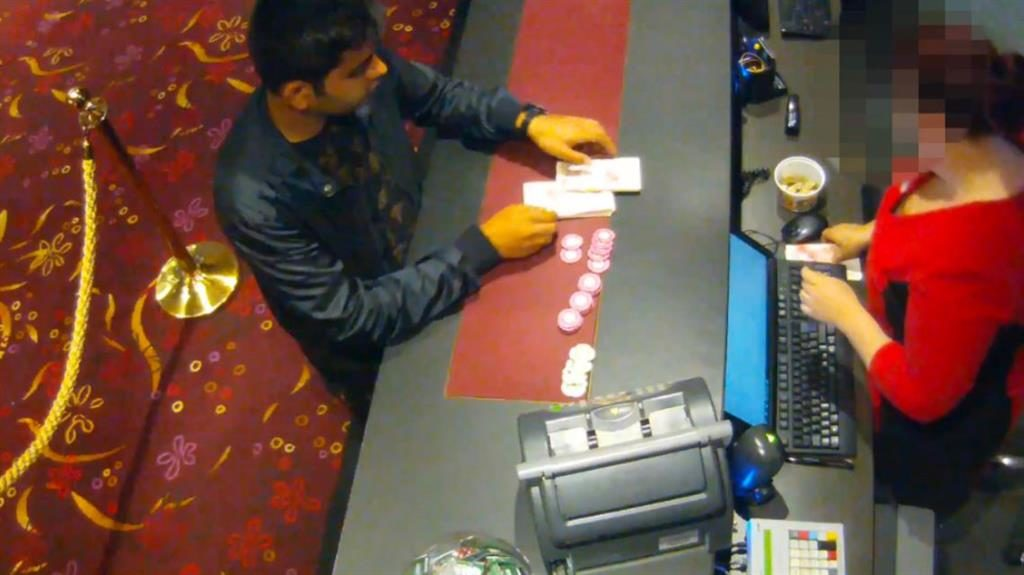 Gambler: Casino footage shows Qaiser out on a spending spree PICTURES: NCA