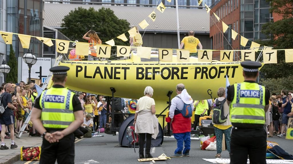 March of time: Extinction Rebellion protesting against climate change