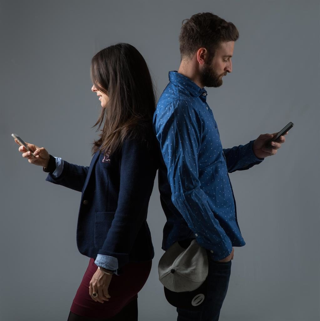 Relationship killer: Some couples spend more time on their mobile phones than with each other PICTURE: ALAMY