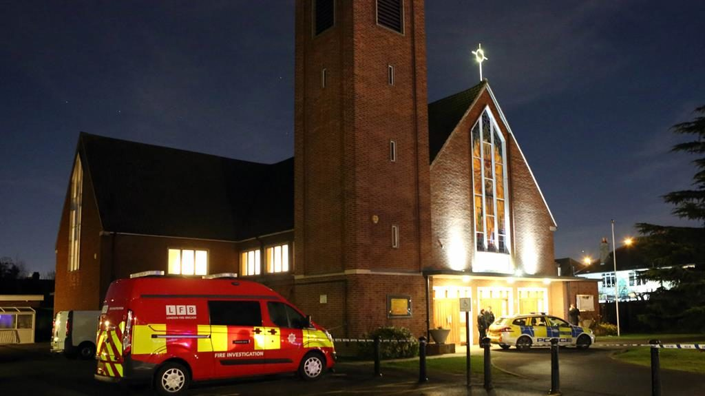 Incident: A fire crew at the church
