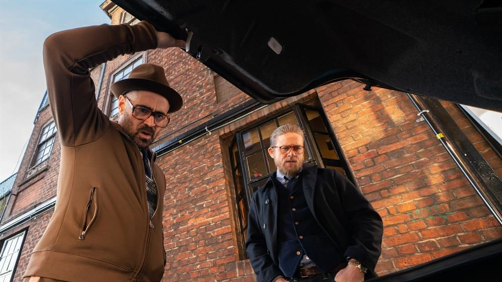 Boots and all: Colin Farrell and Charlie Hunnam throw themselves Lock, Stock into Ritchie's fantasy gangland Essex PICTURE: CHRISTOPHER RAPHAEL