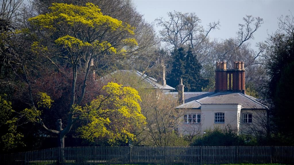 Tucked away: The Sussexes were given the cottage by its owner, the Queen, and paid for all fixtures and fittings themselves PICTURE: REX