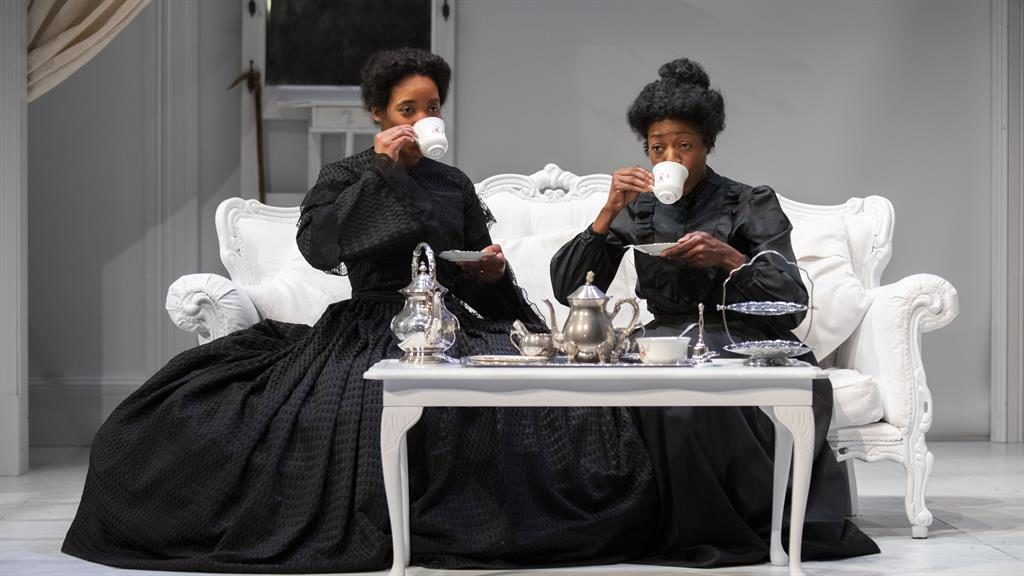Vision of the past: Shannon Hayes and Donna Berlin in The Gift PICTURES: ELLIEKURTTZ