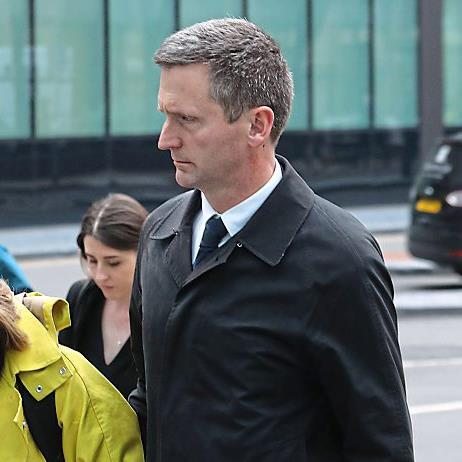 Denies charge: Lord Christopher Holmes outside court PICTURE: PA