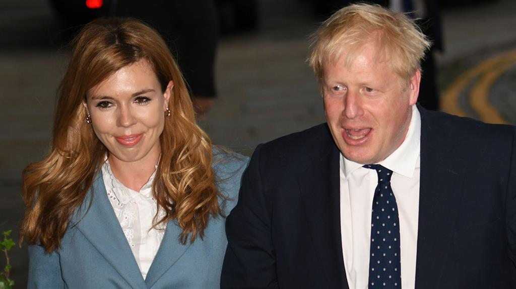 Expecting: Unless the baby is premature, Carrie Symonds was carrying the PM's child in this September picture PICTURES: AFP
