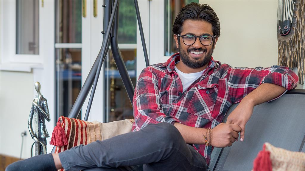 Smiles better but a long way to go: Shanath has been told it could take a year to get back to normal PICTURE: PA