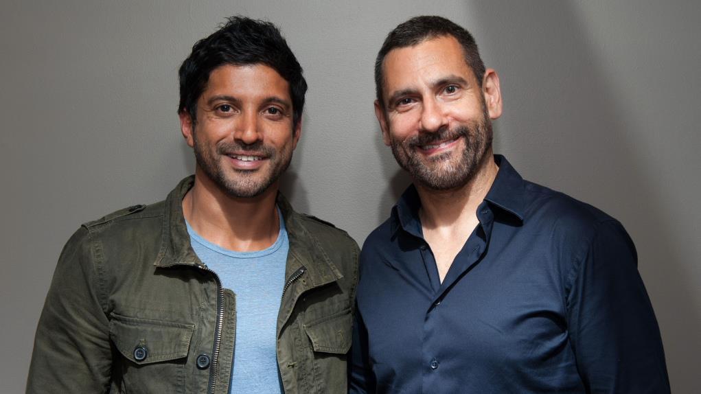 Star turn: Farhan Akhtar with LIFF director Cary Sawhney