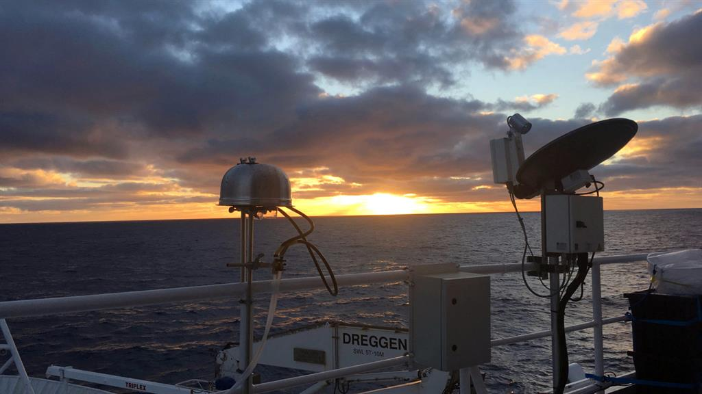 Pristine: Aerosol filter samplers probe the air over the Southern Ocean PICTURE: SWNS