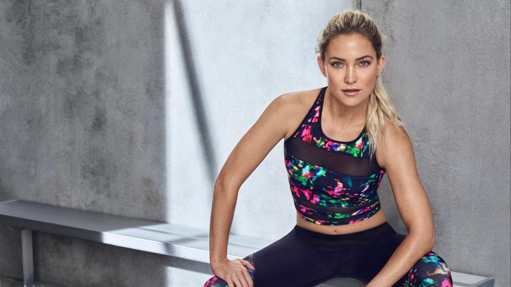 Super lean: Kate Hudson has her own fitness label, Fabletics