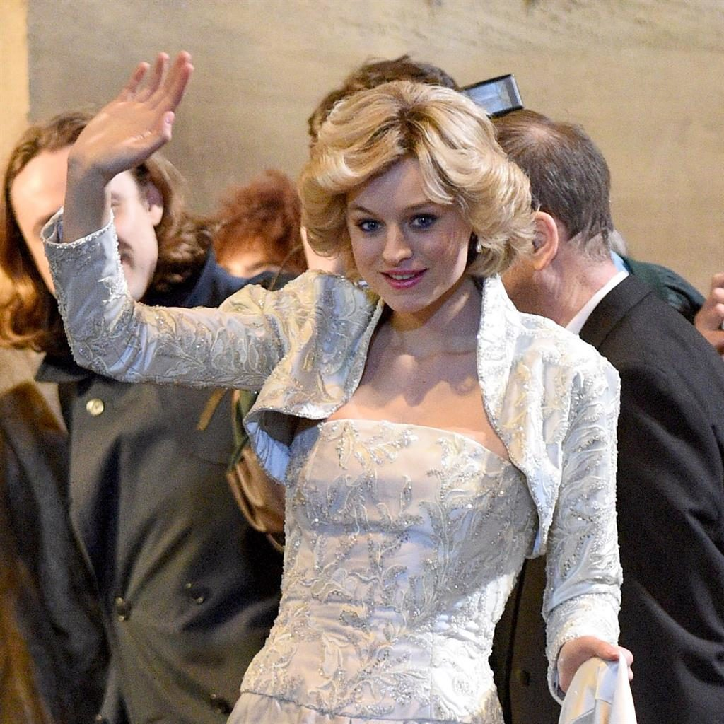 Royal wave: Emma Corrin plays Princess Diana in series four PICTURE: MCPIX/REX/SHUTTERSTOCK