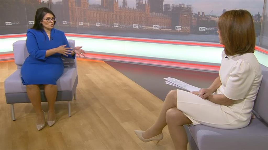 Informing: Priti Patel told Sky News's Kay Burley that reporting on neighbours is about taking personal responsibility