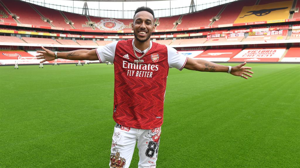 Captain's role: Gunners striker Aubameyang and Villa midfielder Grealish (below) are going nowhere PICTURES: GETTY