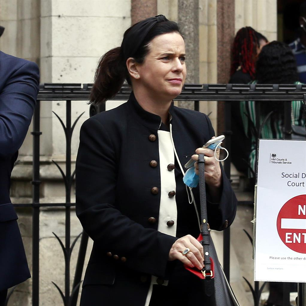 'It was just a stroke of bad luck': Carina Read outside Central London county court. She denies failing to  control pet spaniel