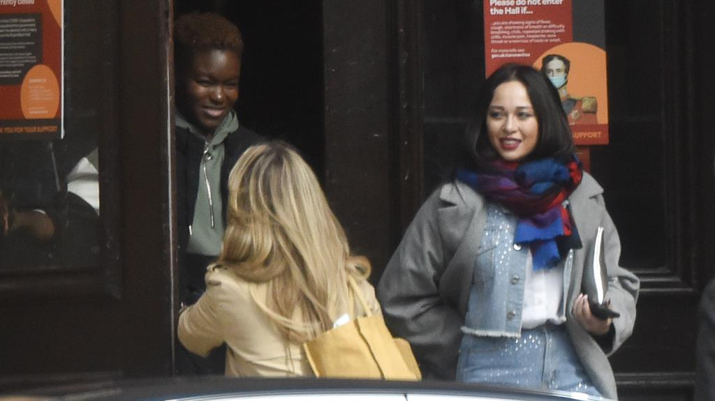 Ring of confidence: Champion boxer Nicola, left, and Katya at secret location yesterday PICTURE: SPLASH