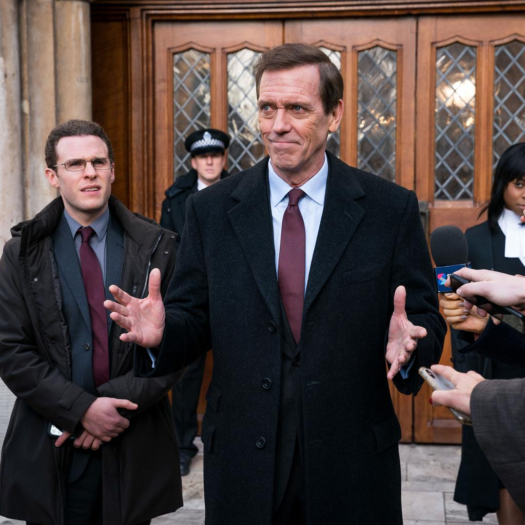 Surprisingly trustworthy: Hugh Laurie as minister Peter Laurence PICTURE: STEFFAN HILL/BBC