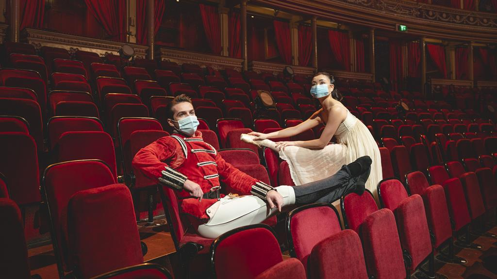 Masked ball: Lachlan Monaghan and Reina Fuchigami will star in The Nutcracker PICTURE: ANDY PARADISE