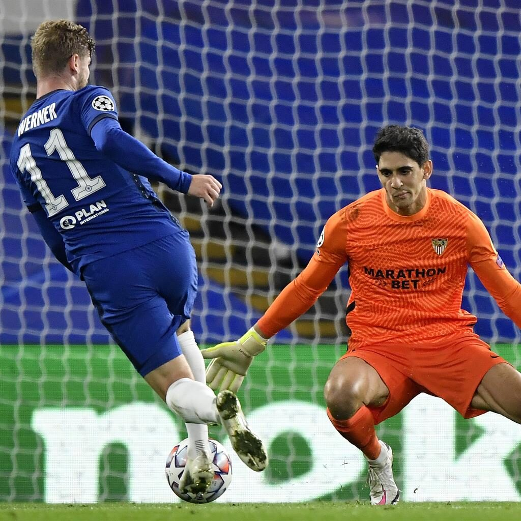 Chance: Werner on the attack for Chelsea PICTURE: AP