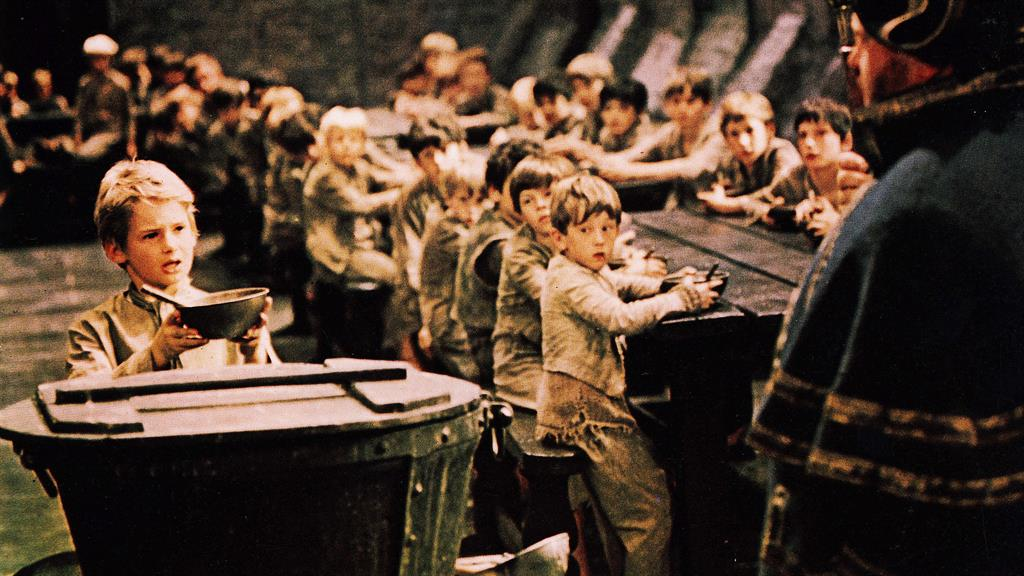 Please sir, I want some more: A scene from the 1968 film Oliver! PICTURE: REX