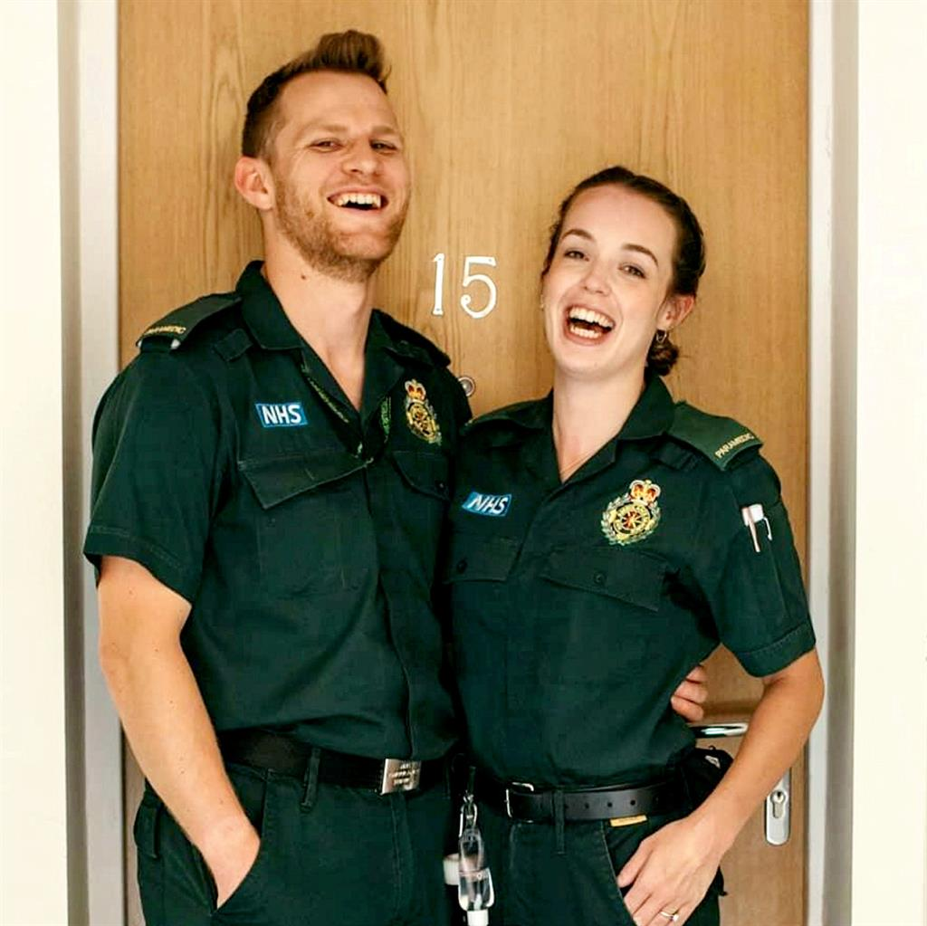 Love must wait: Paramedics Rob Stewart and fiancée Bethany Griffin
