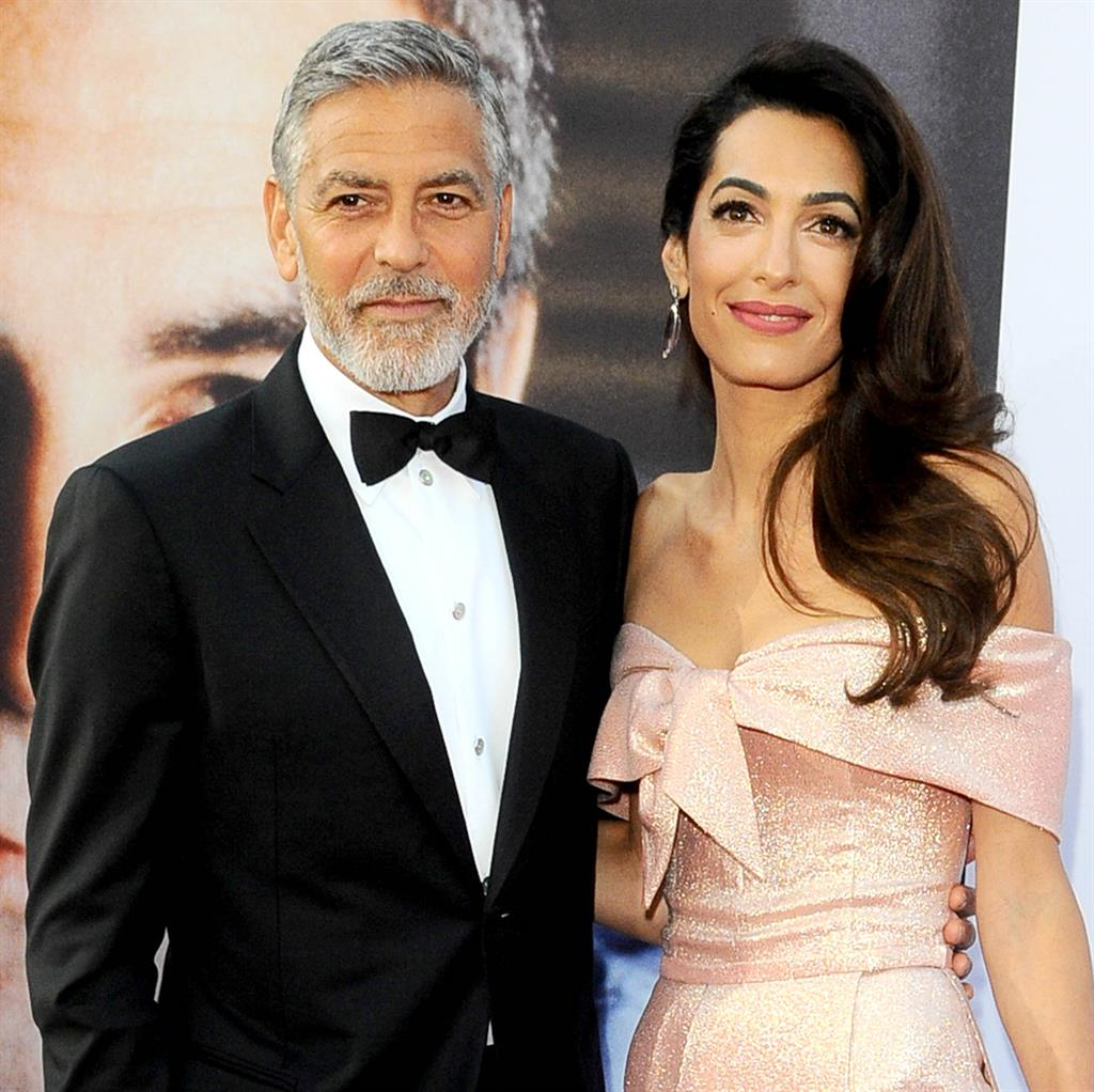 Married a year later: George and Amal Clooney PICTURE: REX