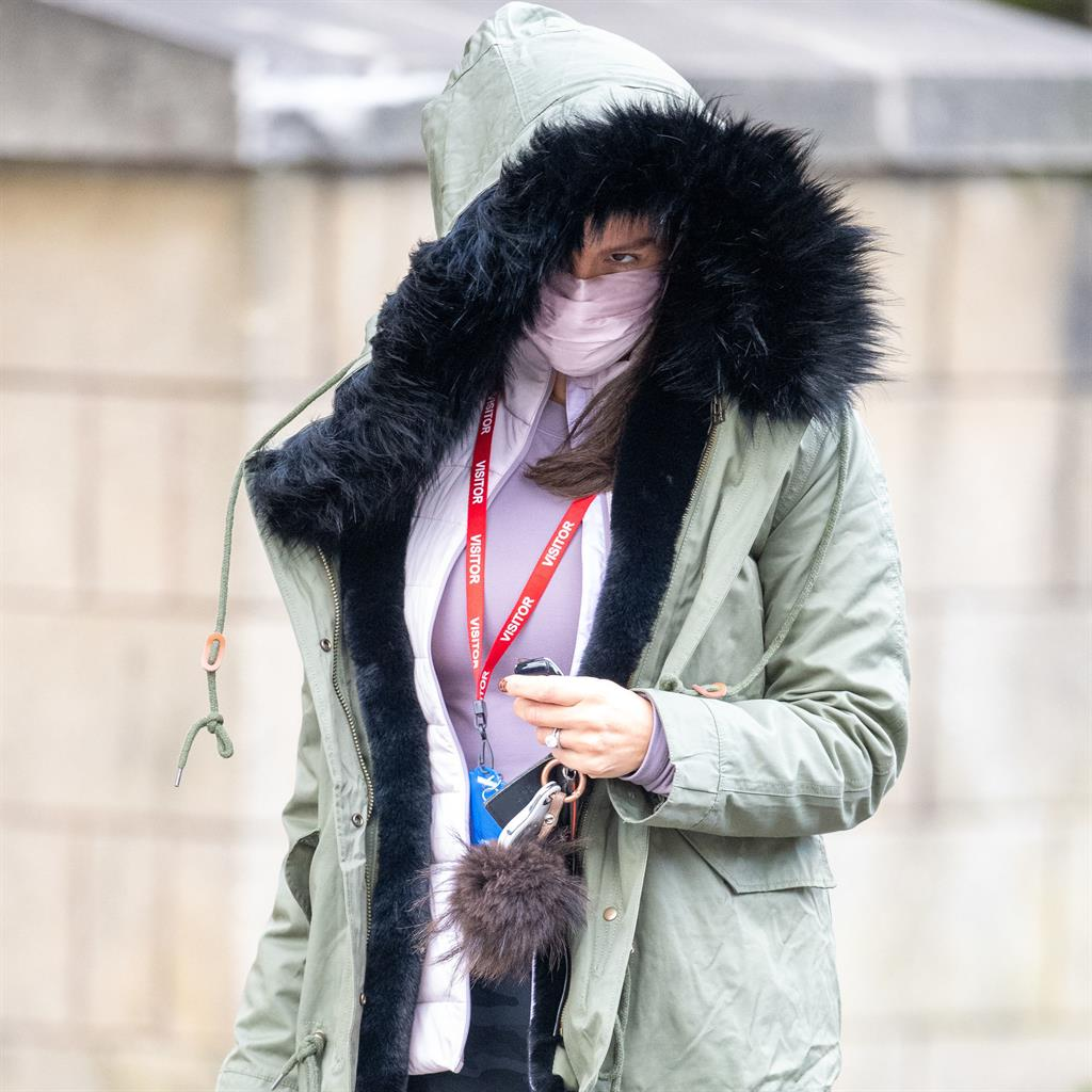Out in the cold: Becky Vardy leaving training for Dancing On Ice yesterday PICTURES: PA/SPLASH