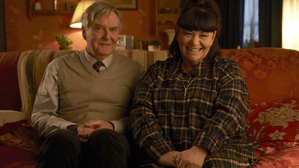 Sofa so good: Dibley's much-loved Hugo and Geraldine PICTURE: BBC/PA