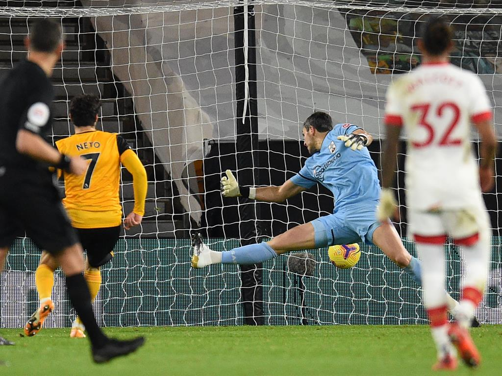 Wolves Substitute Neto Salvages 1-1 Draw With Southampton