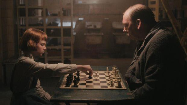 Your move: Isla Johnston as Beth Harmon and Bill Camp as Mr Shaibel in The Queen's Gambit PICTURE: COURTESY OF NETFLIX © 2020