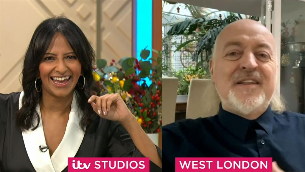 So, how did you beat me? Ranvir Singh, who made it to the Strictly semi-final, interviews champion Bill Bailey on ITV's Lorraine PICTURE: ITV/REX