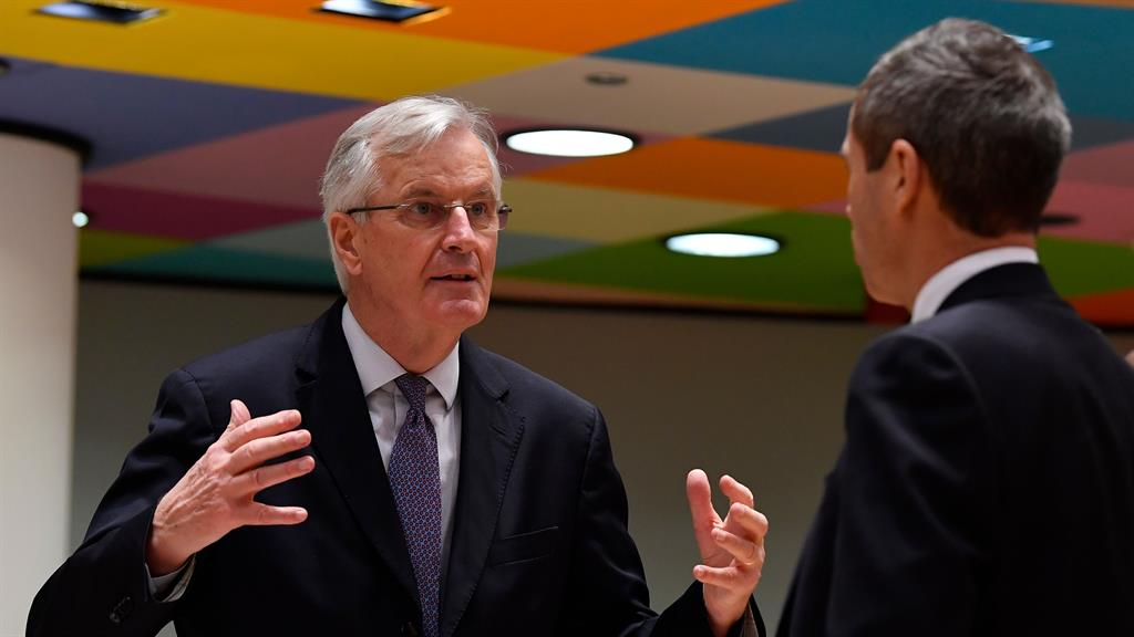 'Final push': EU's Michel Barnier (left) warned colleagues differences remain PICTURE: GETTY