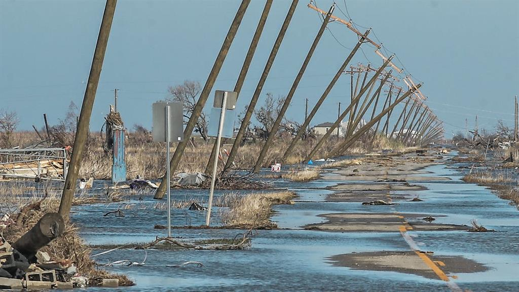 Aftermath: Hurricane Delta in Louisiana, US, in October PICTURE: TANNEN MAURY/EPA