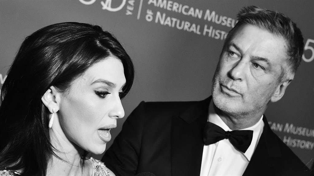Fluid fluency: Hilaria Baldwin and Alec Baldwin at a gala in New York, US, in 2019 PICTURE: REX