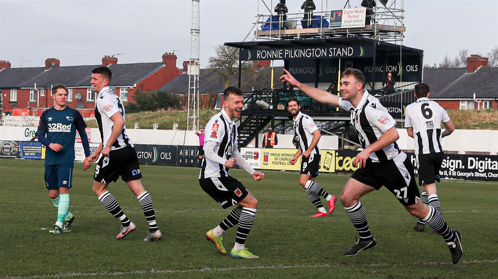 FA Cup: Non-league Chorley stun Derby to advance to fourth round