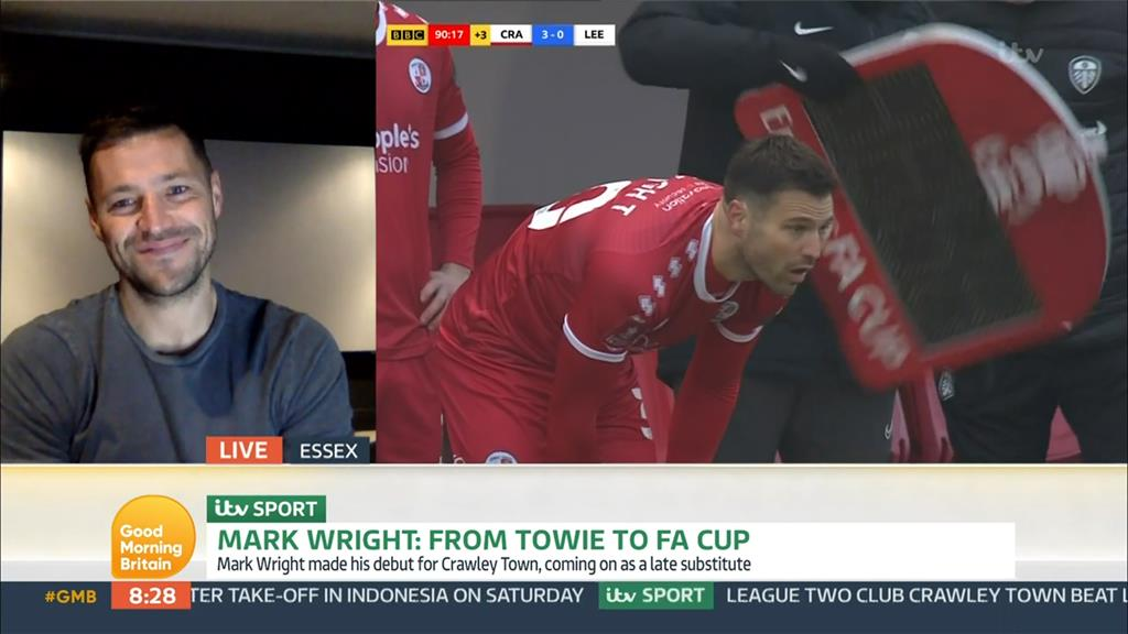 Here we pro: Mark on Good Morning Britain after making football history PICTURE: ITV/REX