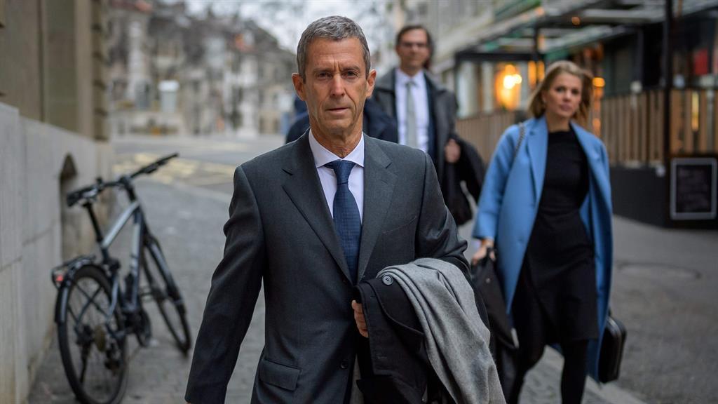 Trial: Steinmetz arrives at court in Geneva PICTURE: GETTY