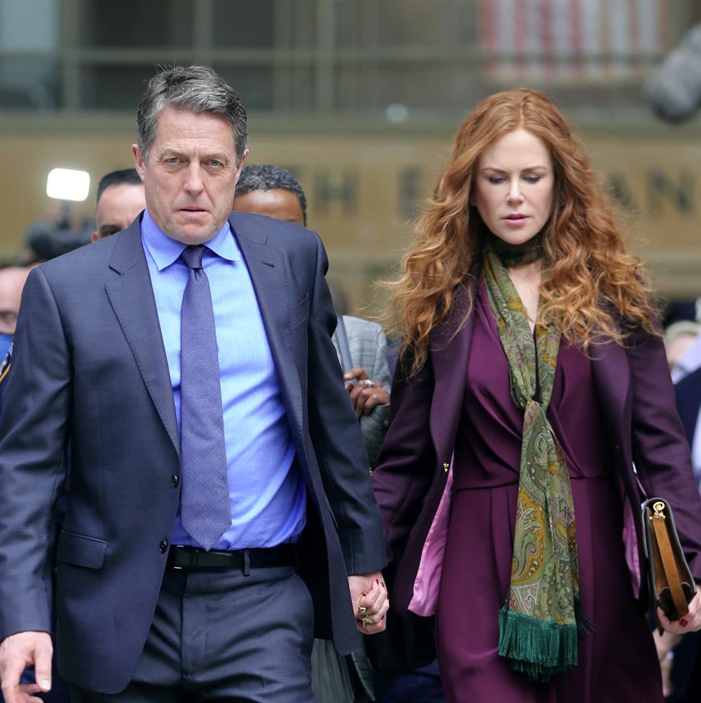 'Uneasy': Hugh Grant and Nicole Kidman in the Sky Atlantic drama PICTURE: REX