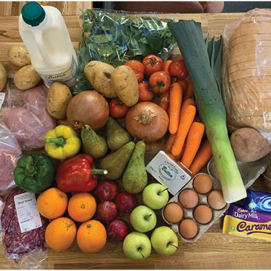 This for £30: Array of healthy fruit, veg, fresh meat and even treats that £30 vouchers would buy in a supermarket