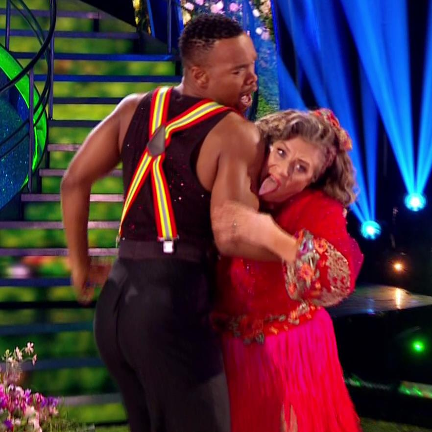 Tongue twisters: Johannes and Caroline's controversial dance